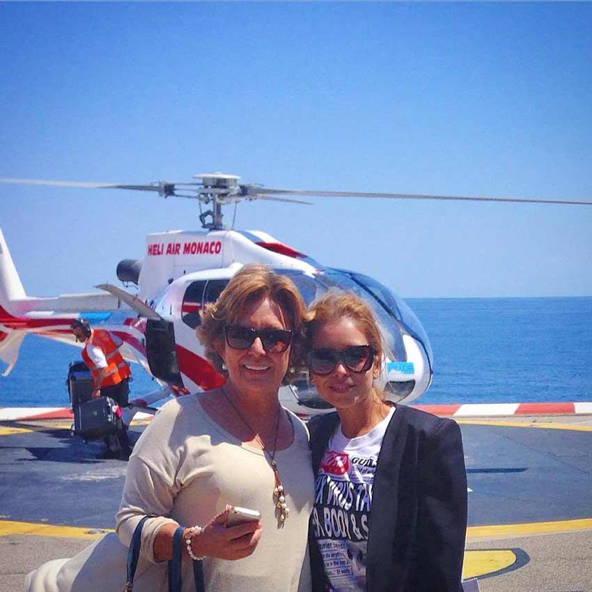 anita hernandez con helicoptero